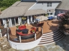 Trex Curved Decking Design with Patio Contractor- Amazing Deck