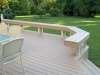 Ivory Trex Deck with Custom Bench- Amazing Deck