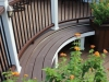 White Trex Deck with Custom Bench and Planter- Amazing Deck