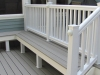 White Trex Deck Design with Custom Bench- Amazing Deck