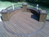 Rounded Trex Deck Bench- Amazing Deck