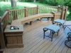 Round Planter Bench- Trex Decking- Amazing Deck