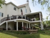 White Railing Trex Features with Roof- Montgomery County, Pa