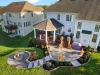 Custom Trex Deck with Roof, Patio and Fire Pit- Huntingdon Valley, Pa