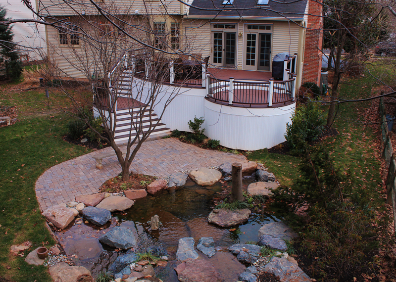 Curved Deck and Patio Design- Amazing Deck