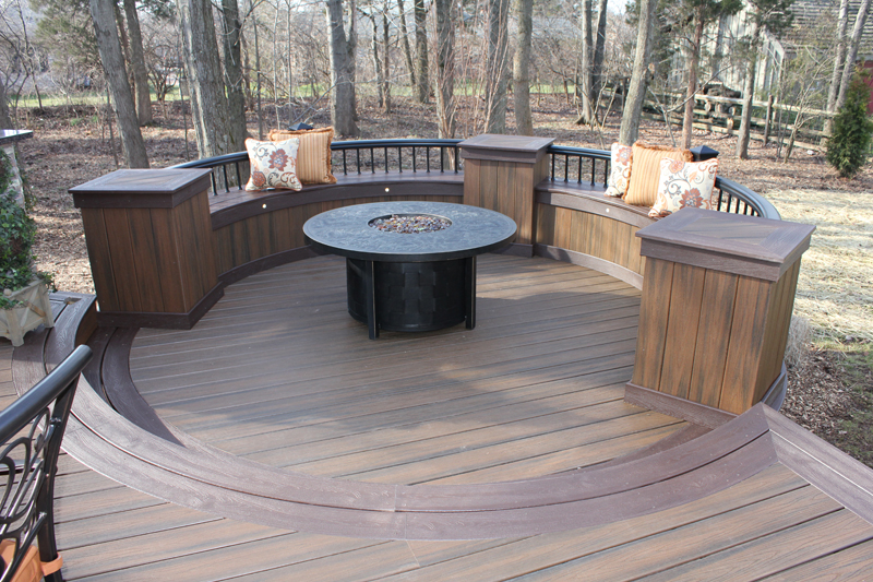 Round Deck Ideas for Entertaining- Amazing Deck