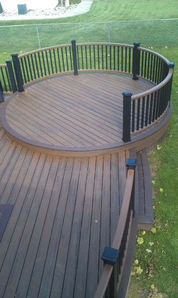 Trex Curved Deck Plan- Amazing Deck