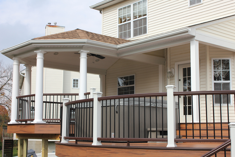 Custom Curved Deck with Roof- Amazing Deck