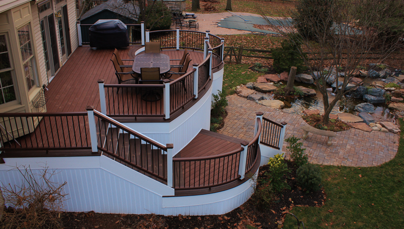 Round Deck Steps and Railing Ideas- Amazing Deck