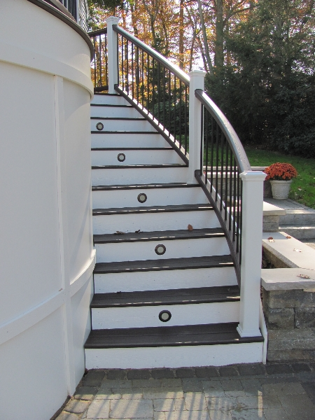 Stairs and Railing on Curved Decks- Amazing Deck