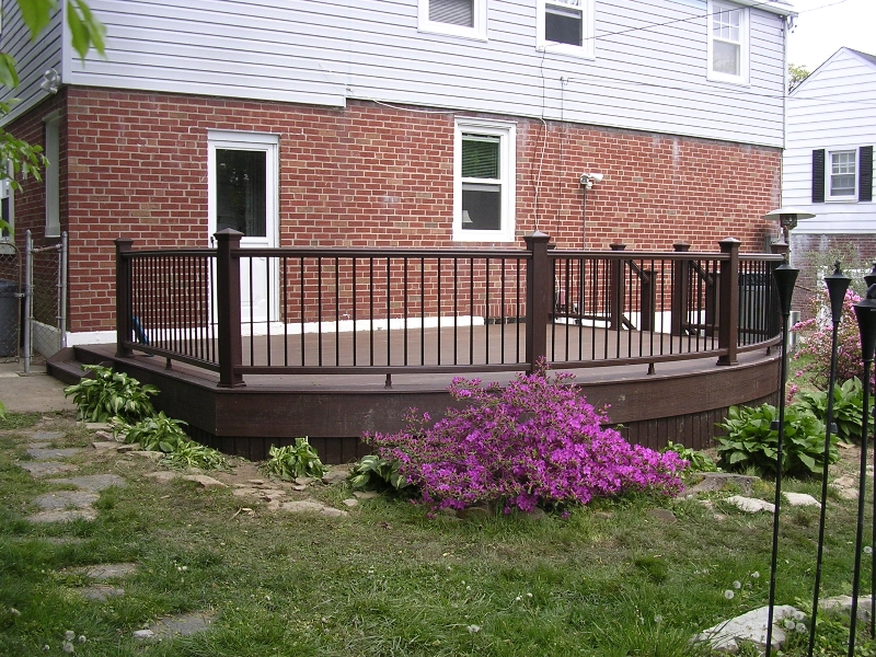 Small Round Deck Plan- Amazing Deck