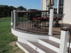 Round Deck Railing and Stairs Designs- Amazing Deck
