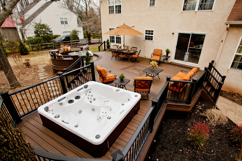 Spa Amp Pool Deck Designs Pool Deck Contractor Amazing Decks
