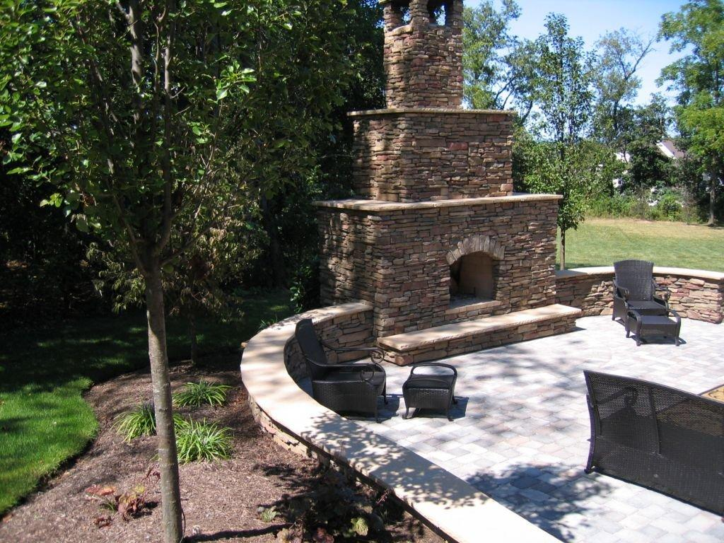 Outdoor Patio Builder- Patio with Fireplace- Amazing Decks