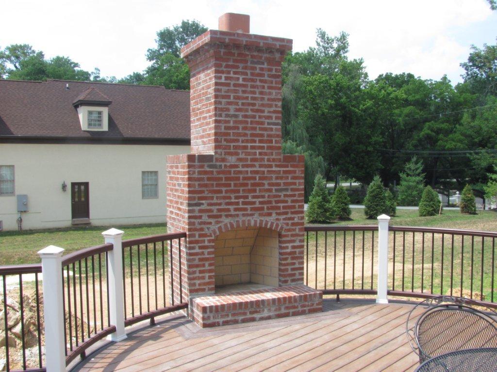 Custom Deck Design with Fireplace- Amazing Deck
