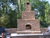 Outdoor Stone Fireplace- Custom Deck Designs- Amazing Deck