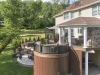 Spa Patio and Deck with Roof Design- Amazing Deck