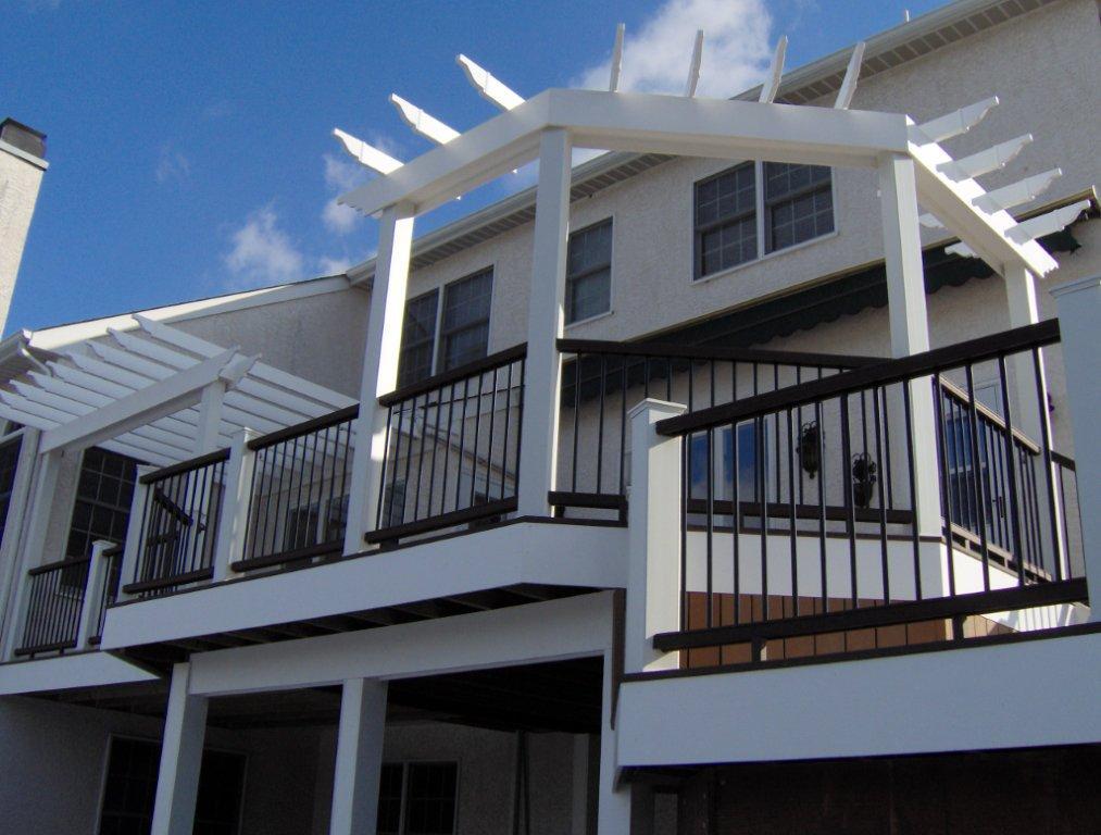 Decks with Pergolas Plans- Pergola Deck Contractors- Amazing Deck