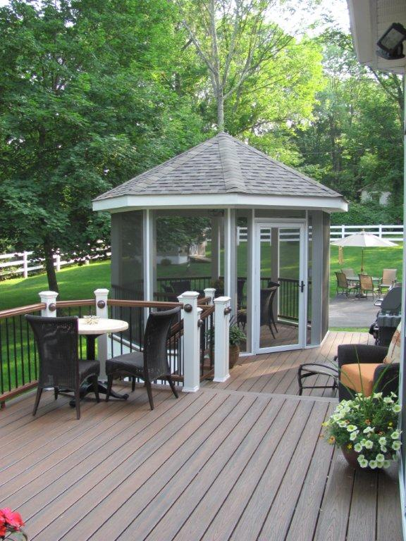 Screened In Porch and Deck Ideas- Deck Design with Screened In Room- Amazing Deck