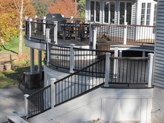 Custom Deck with Trex Railing- Amazing Deck