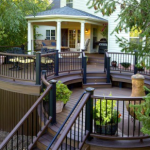 Curved Deck with Roof Deck Design- Amazing Deck
