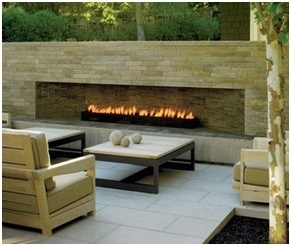 Modern Outdoor Fireplace Design- Outdoor Fireplace Builder- Amazing Deck