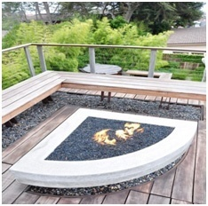 Fireplace on a Deck- Deck Fireplace with Built-In Seating- Amazing Deck
