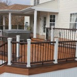 Curved Deck Design with Roof- Backyard Deck Designs- Amazing Deck
