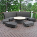 Curved Deck Seating Decor- Amazing Deck