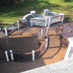 Curved Deck with Curved Patio Design- Deck and Patio Builders- Amazing Deck