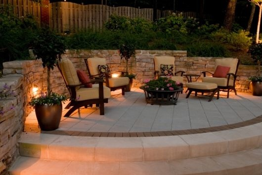 Deck and Patio Lighting- Paver Stone Patio- Amazing Deck