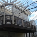 Pergola Designs for Decks and Patio with Built In Seating