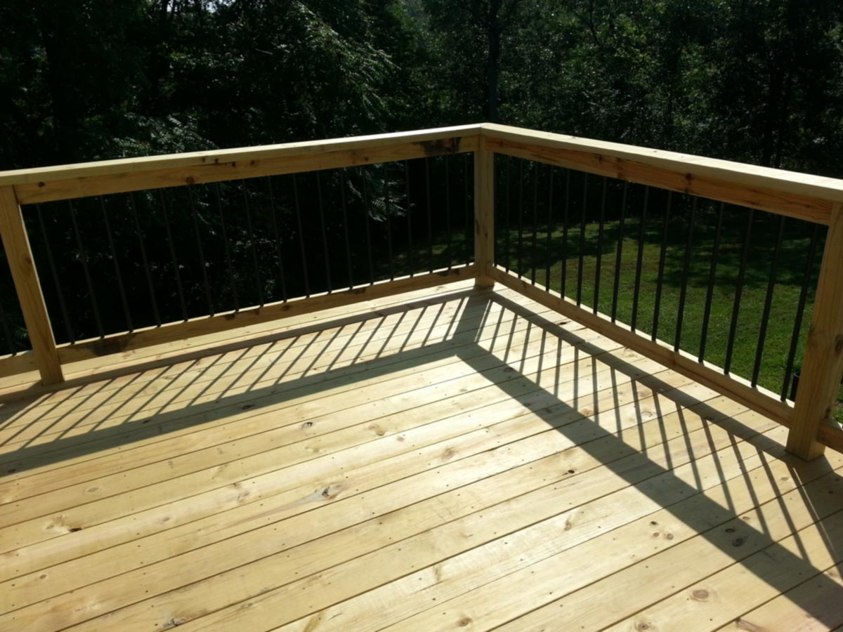 Before and after wooden decks don t withstand time like for Pressure treated decking