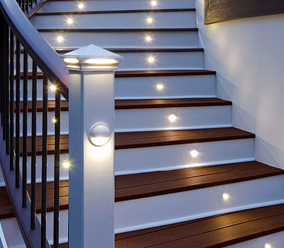 trex deck lighting- trex lighting solutions for decking stairs and posts- Amazing Deck