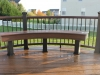 Trex Benches with Trex Railing- Amazing Deck