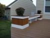 Custom Planter Bench for Trex Decking- Amazing Deck