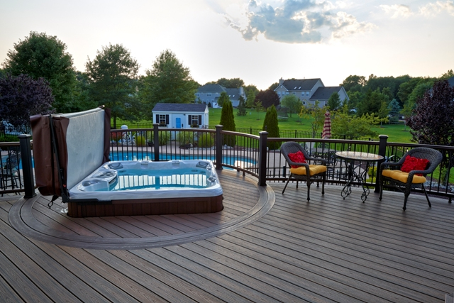 Trex Transcend Tiki Torch Deck with Spa Deck- Trooper, Pa