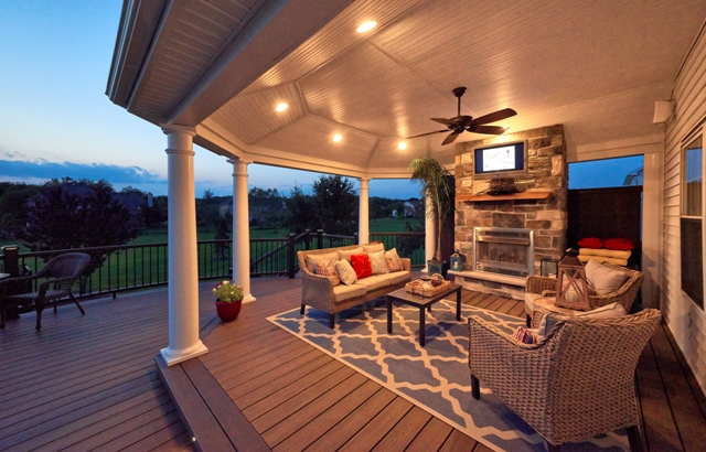 Trex Deck with Lighting Features- Bucks County Pa