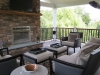 Outdoor Fireplace on Trex Composite Deck- Ambler, Pa