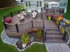 Trex Decking with Railing and Stone Patio- Collegeville, Pa
