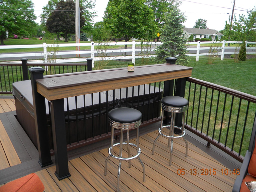Trex Transcend Deck with Spa Feature- Monroe, NJ