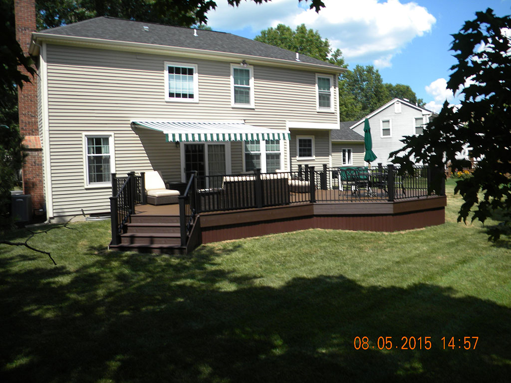 Trex Transcend Deck with Custom Roof- Hillsborough NJ