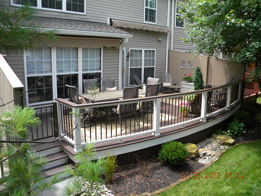 Trex Deck Design with White Railing- Collegeville PA