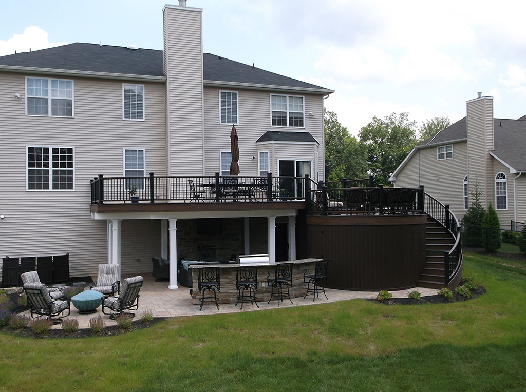 Multi Level Deck with Patio and Outdoor Firepit- Swedesboro NJ