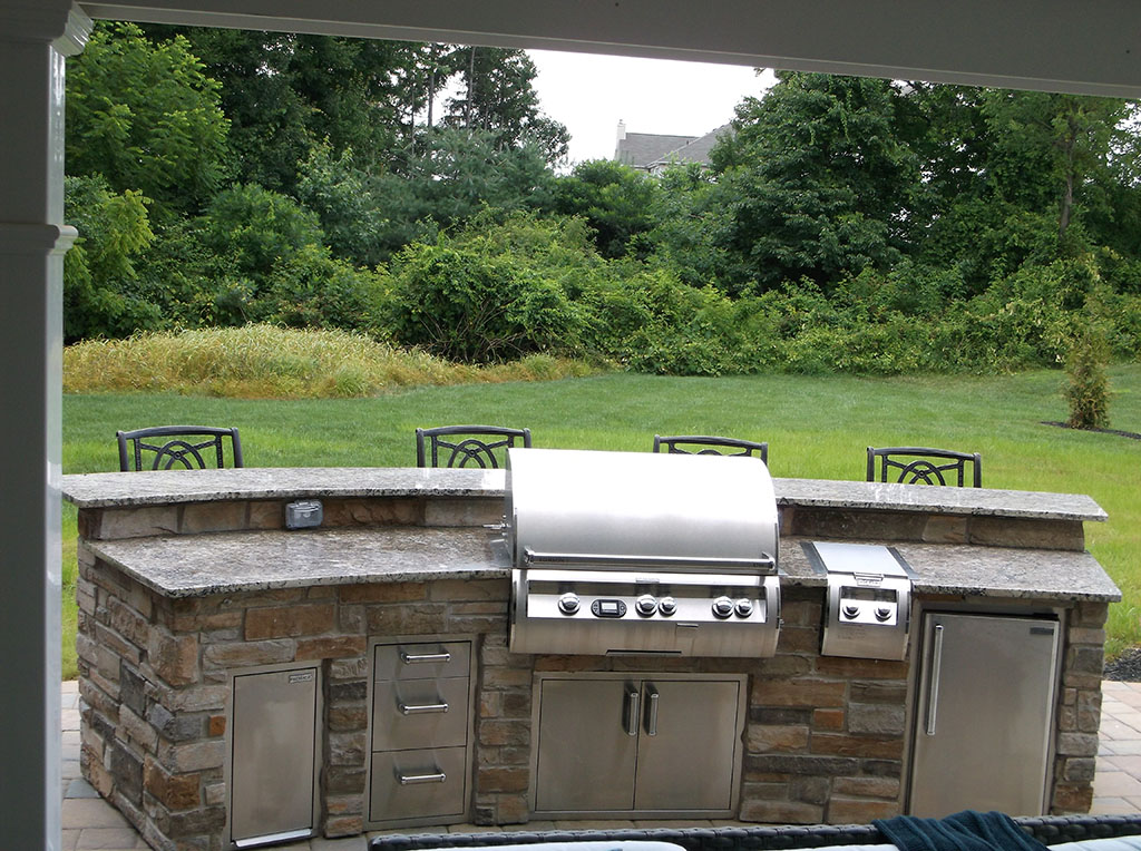 Outdoor Kitchen on Custom Deck- Penn Valley Pa