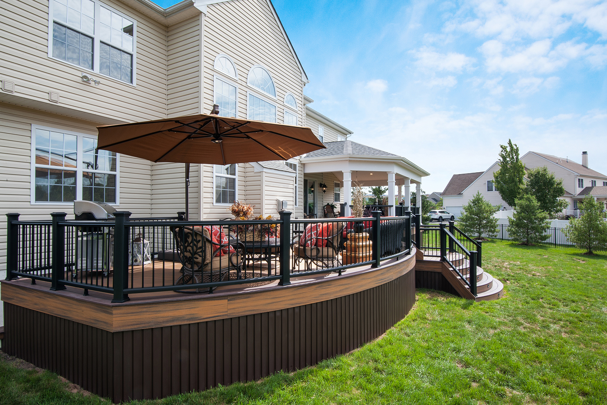 Trex Transcend Havana Gold and Lava Rock Deck- Green Lane Pa