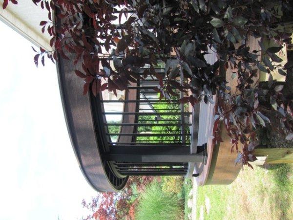 Round Deck Railing Idea- Amazing Deck