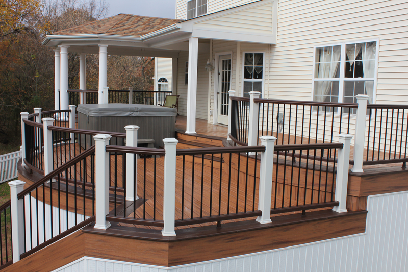 Custom Curved Deck with Roof Design- Amazing Deck