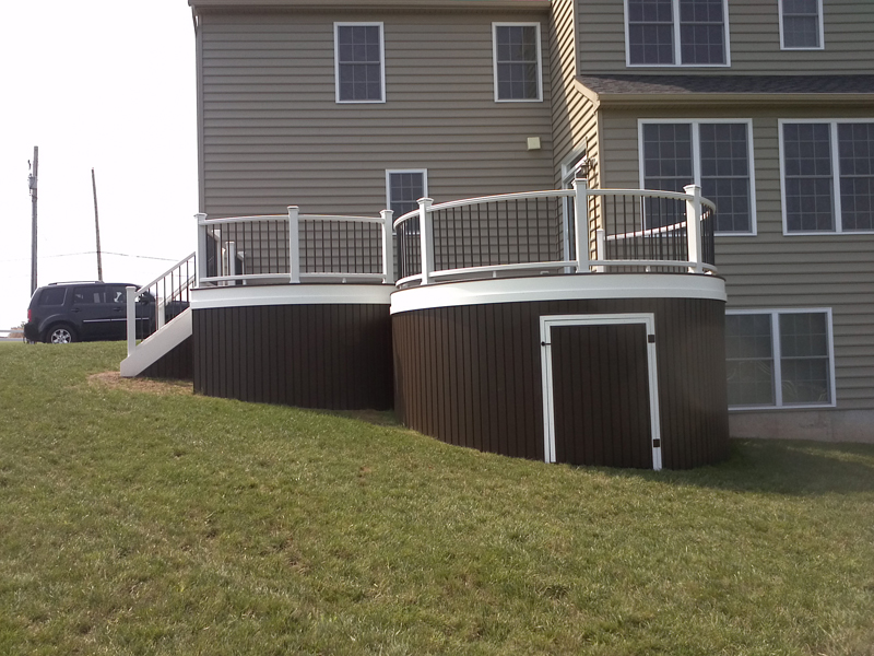 Build Curved Deck Stairs- Amazing Deck
