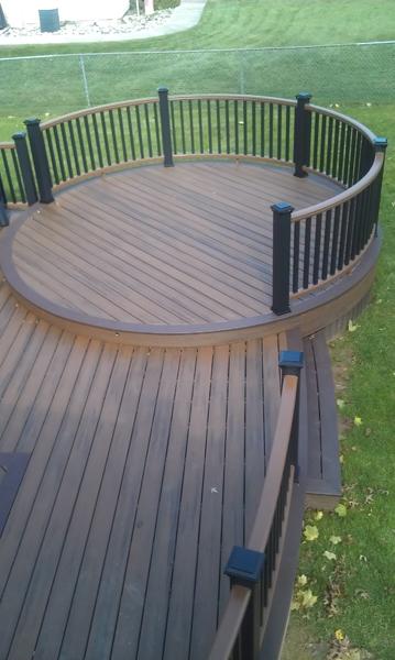 Trex Curved Deck Plan- Amazing Deck